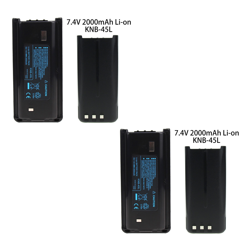 2X 2000mAh Li-Ion KNB-45L Battery For Kenwood TK-2202L TK-2212 TK-3212 TK-3300 TK-3302