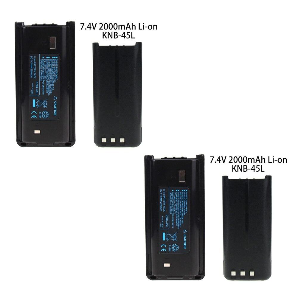 2X 2000mAh Li Ion KNB 45L Battery for Kenwood TK 2202L TK 2212 TK 3212 TK 3300 TK 3302|Walkie Talkie Parts & Accessories| |  - title=
