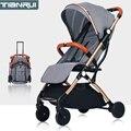 Детская коляска с высоким пейзажем, ультра светильник, складная, может сидеть или лежать, высокий пейзаж, подходит для 4 сезонов, с высоким сп...