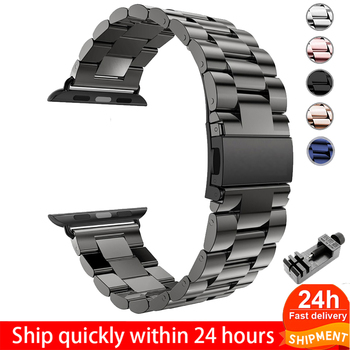 Stainless Steel Strap For Apple Watch 6 5 4 3 2 1 Band 38mm 42mm Bracelet Sport Band for iWatch series 5 4 3/2/1 40mm 44mm strap