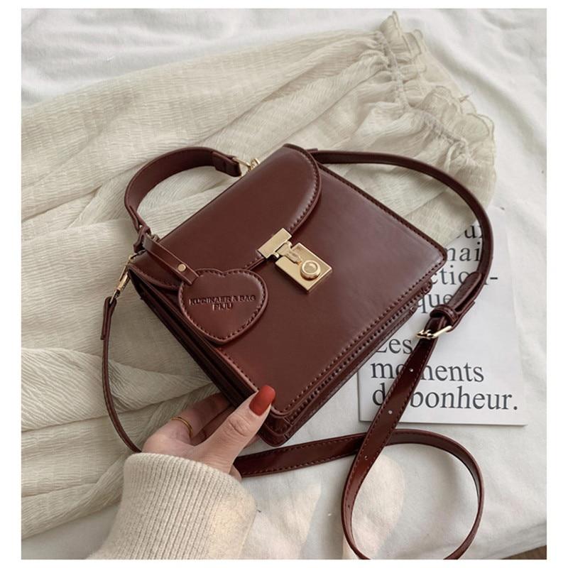 Female Messenger Bag Vintage Shoulder Bags For Women 2020 Autumn Simple Crossbody Bag Casual Large Capacity Handbags Bolso Mujer