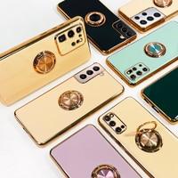 Funda para Samsung s21, S21, Ultra Galaxy S20 FE, S20 Plus, SamsungS21 S 21, carcasa de silicona suave de lujo con soporte para anillo