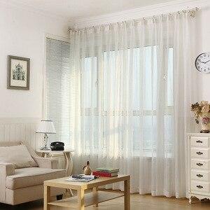Cortina de tul a rayas de alambre de plata brillante para sala de estar, dormitorio, M135 y 30