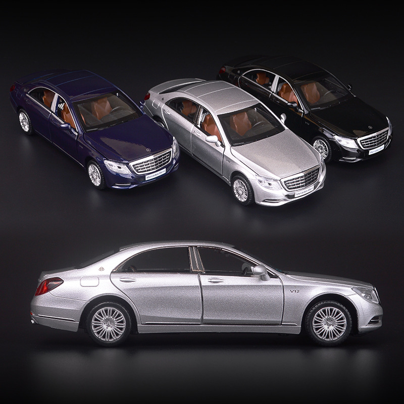 1 32 Maybach S600 Diecast Metal Car Models High Simulation Vehicle Toy With Light Music 6