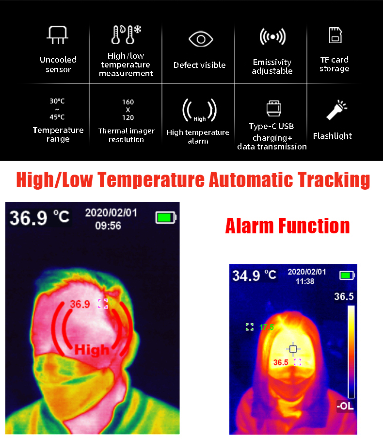 A-BF Infrared Thermal Imager with Real-Time Image Transmission and High-Temperature Alarm Prompt 11