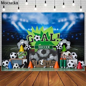 Image 1 - Mocsicka כדורגל כל כוכב ילד 1st יום הולדת צילום תפאורות עוגת לרסק תמונה אבזרי סטודיו תא רקע כדורגל דקור