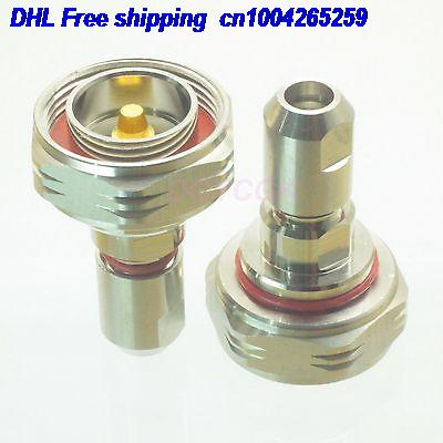 DHL 20pcs 7/16 DIN Male Plug Clamp 1/4
