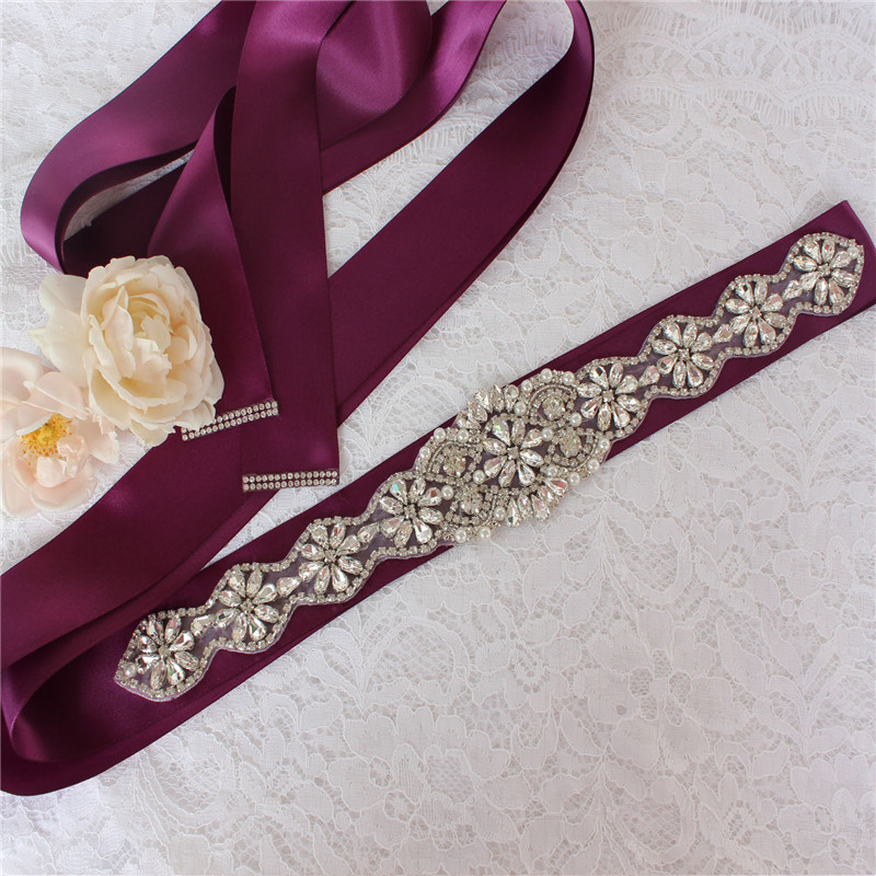 Bridal belt wedding dress belt ladies belt pearl evening dress belt rhinestone belt wedding accessories