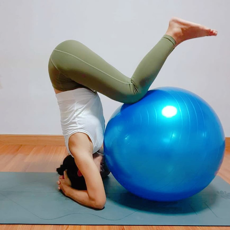 Fitness Ball Yoga Ball PVC Material Thickening Explosion-proof Gymnastics Yoga Ball Big Dragon Ball Exercise Ball