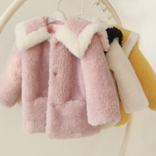 Faux Fur Jackets for Girls Coats Children Clothing Autumn Winter Faux Fur Outerwear for Girls Wool Coat Kids Jackets Coats
