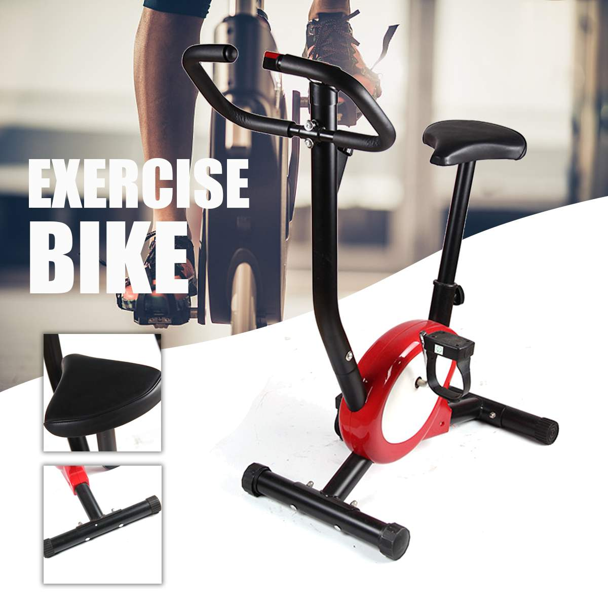 Indoor Exercise Bike Training Cycle Fitness Cardio Workout Home Machine Gym