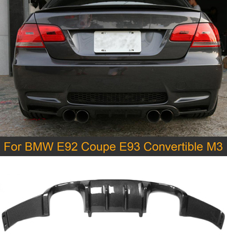 Car Rear Bumper Lip Spoiler Diffuser For BMW E92 Coupe E93 Convertible M3 2008-2013 Non 4 Door Carbon Fiber Splitter Apron image