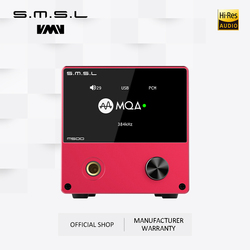 SMSL M500 XMOS XU-216 Supports MQA D/A chip ES9038PRO Supports DoP and Native DSD 32bit/768kHz and DSD512 with Remote Control