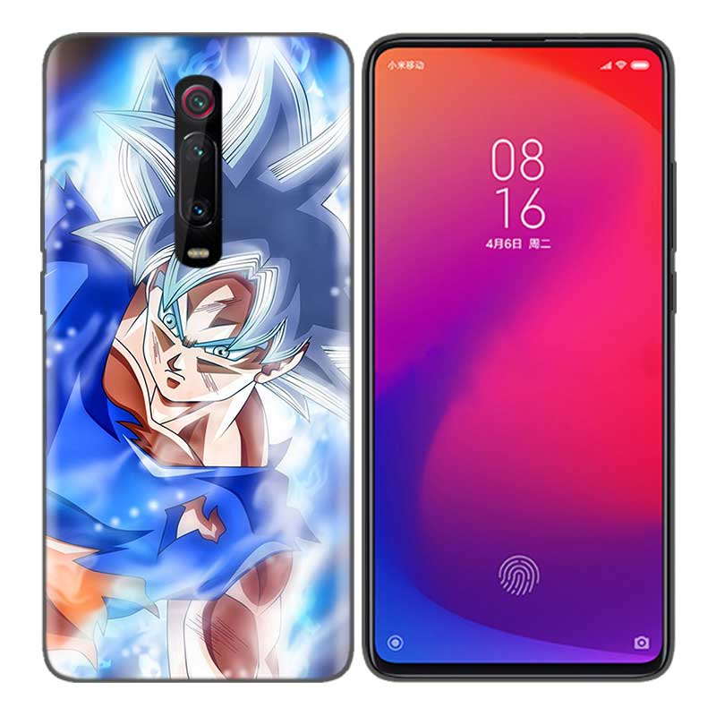 Black Soft Silicone Bag Cover Case for Xiaomi Mi 9T CC9 Redmi 4 4X 5 6 6A 7 7A Note Plus K20 Pro F1 Tampa Fall Dragon Ball Drag in Half wrapped Cases from Cellphones Telecommunications