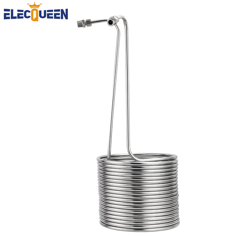 3/8'' X 15m Immersion Chiller, Stainless Steel Wort Chiller Super Effective Heat Exchanger Kit Homebrew Beer Cooler Rapid Chill