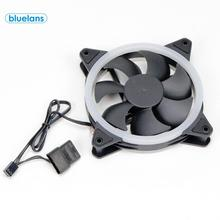 Computer case LED RGB Luminous Cooling Fan Shockproof And Silent Double-Sided Computer Radiator DIY 3 / 4Pin Accessories