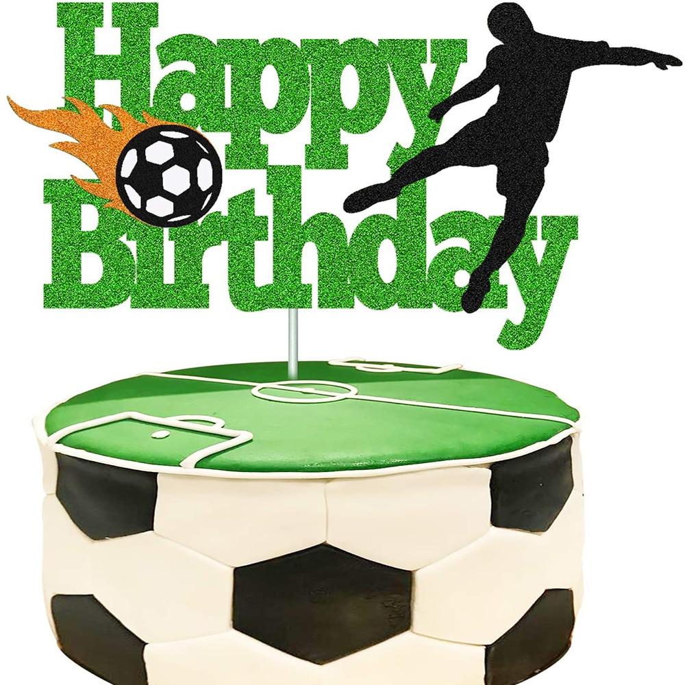 Для маленьких мальчиков и девочек, пользу Футбол вечерние торт Топпер Декор для Футбол украшения торта Декор Аксессуары подарок на день рож...