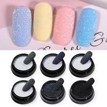 Arte decorativa para unhas com pó de açúcar, pó brilhante, glitter, pó, pigmento para unhas diy