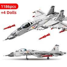 1186 pçs blocos de construção de avião J-15 naval lutador militar cidade avião helicópteros tijolo construção crianças brinquedos