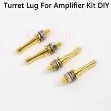 Tira de Audio de Terminal de Turret HIFI DIY, tablero de etiqueta, tablero de terminales para amplificador de tubo, Kit DIY, Turrets dorados chapados en cobre