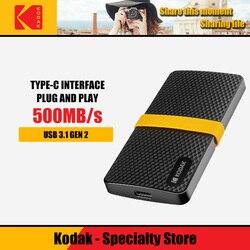 Kodak Портативный SSD 256 ГБ 512 1 ТБ USB3.1 внешний жесткий диск Тип C HDD для портативных ПК