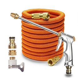Expandable Magic Flexible Garden Hose Pipe Watering Hose With Spray Nozzle Gun High Pressure Car Wash Cleaning Irrigation Tools