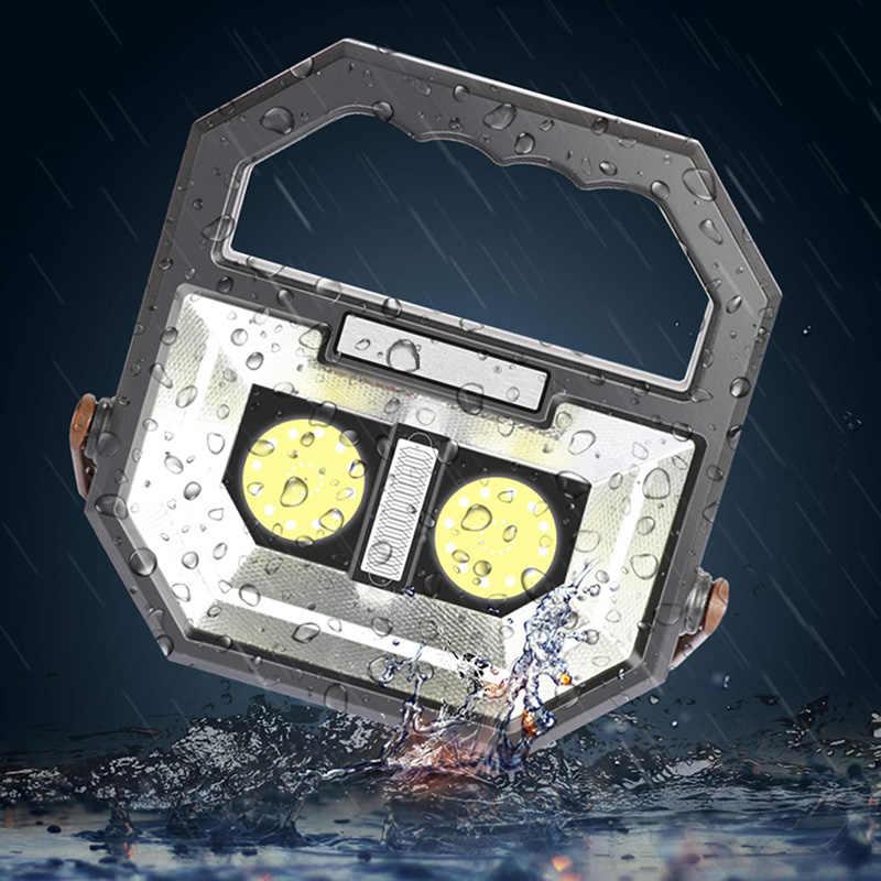 ZK20 Dropshipping COB HA CONDOTTO LA Luce del Lavoro Ricaricabile Portatile Impermeabile Luci di Inondazione per Escursione di Campeggio Di Emergenza di Riparazione Auto