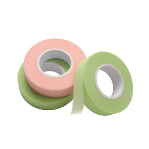 1 PC Non-woven fabric Eyelashes Tape Green pink color tape holes breathable eye pad Eyelash extension women make up tools
