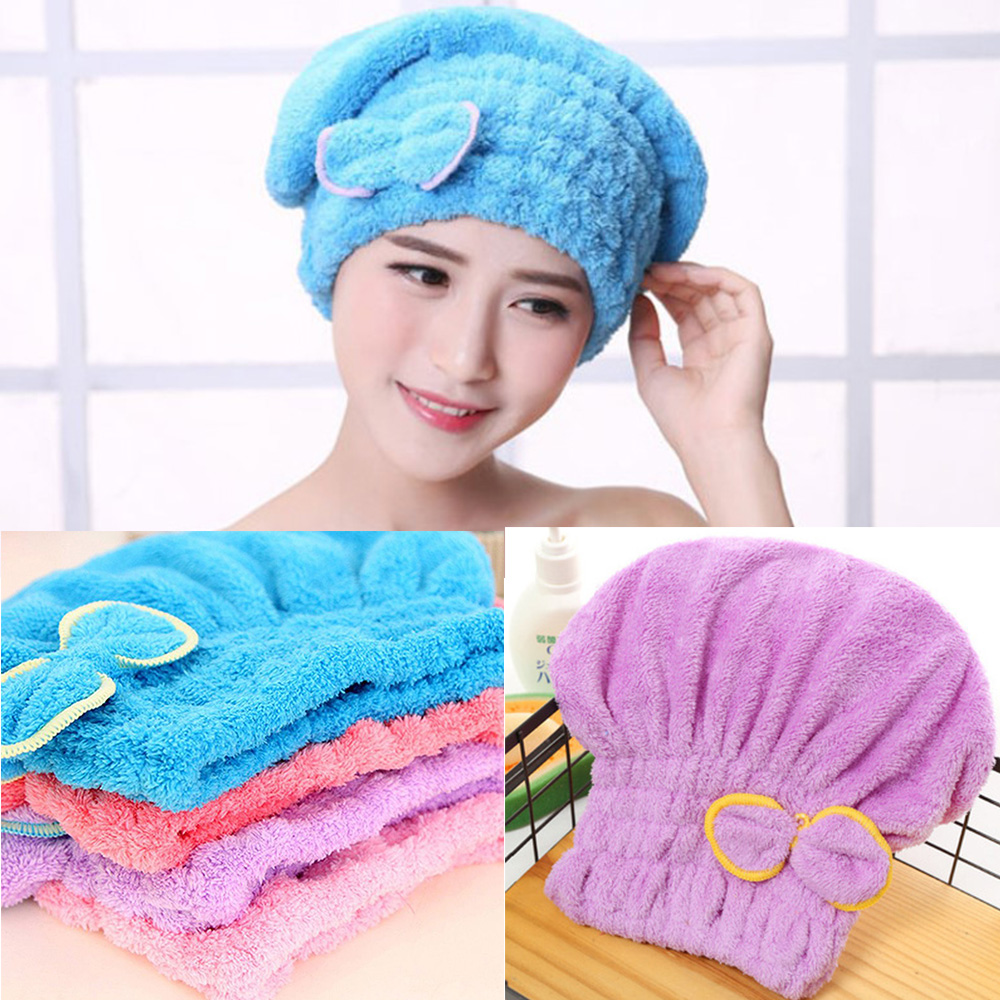 Hair Turban Quickly Dry Hair Hat Wrapped Towel 6 Colors Available Superfine fiber fabrics Fashion Textile Microfiber Solid Bath