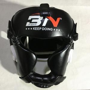 Image 2 - Kids/Adults MMA Sparring Muay Thai Boxing Helmet W/Mask Taekwondo Martial Arts Headgear Training Protective Head Protector DEO