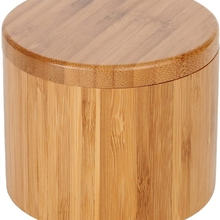 Bamboo Seasonings Box with Lid Pepper Spice Cellars Salt Sugar Storage Container Case for Kitchen