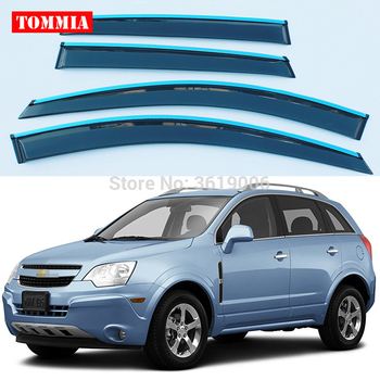 tommia Brand New For Chevrolet Captiva Window Visor Shade Vent Wind Rain Deflector Guards Cover 4pcs/Set