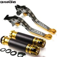цена на For HONDA VTX1300 2003 2004 2005 2006 2007 2008 VTX 1300 Motorcycle Brake Handle CNC Adjustable Brake Clutch Lever Handbar