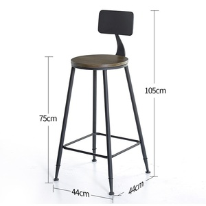 Image 3 - Taburete fauteuil sandalyesi hokery sedia banquetaトドスサントスtiposみすぼらしいシックなtabouretデ近代スツール現代新羅バー椅子