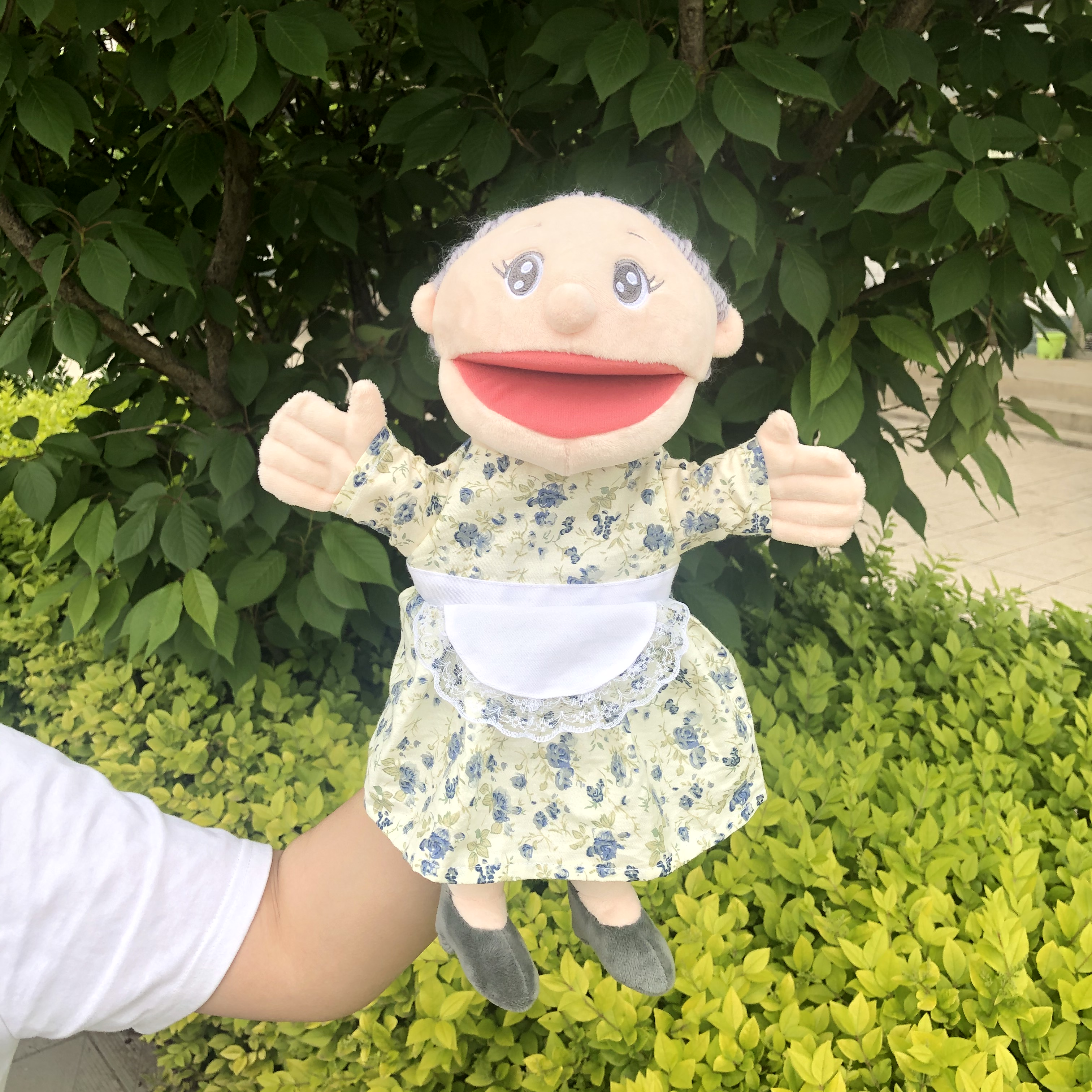 30 cm mouth move grandma girl grandpa family puppet cartoon fireman Steele penny Norman puppy toys for children