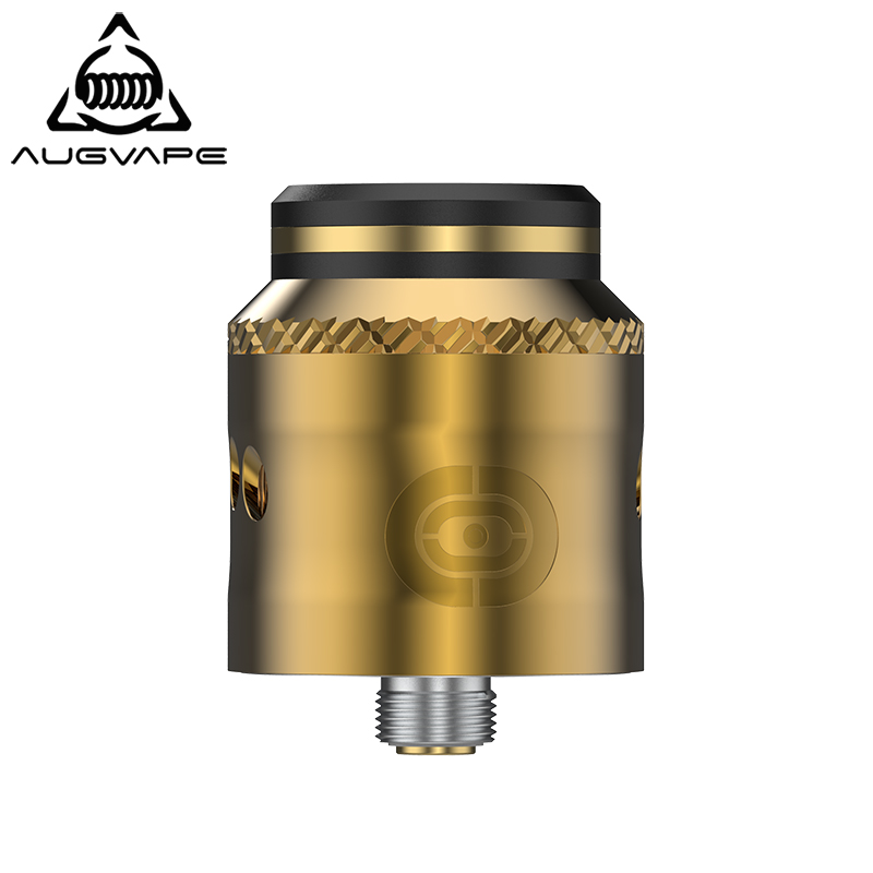 Augvape OCCULA RDA Atomizer Internal-post Clamp Design 24mm 5ml Peek Insulatore 10mm Drip tip Dual Downward Airflow Vape Tank