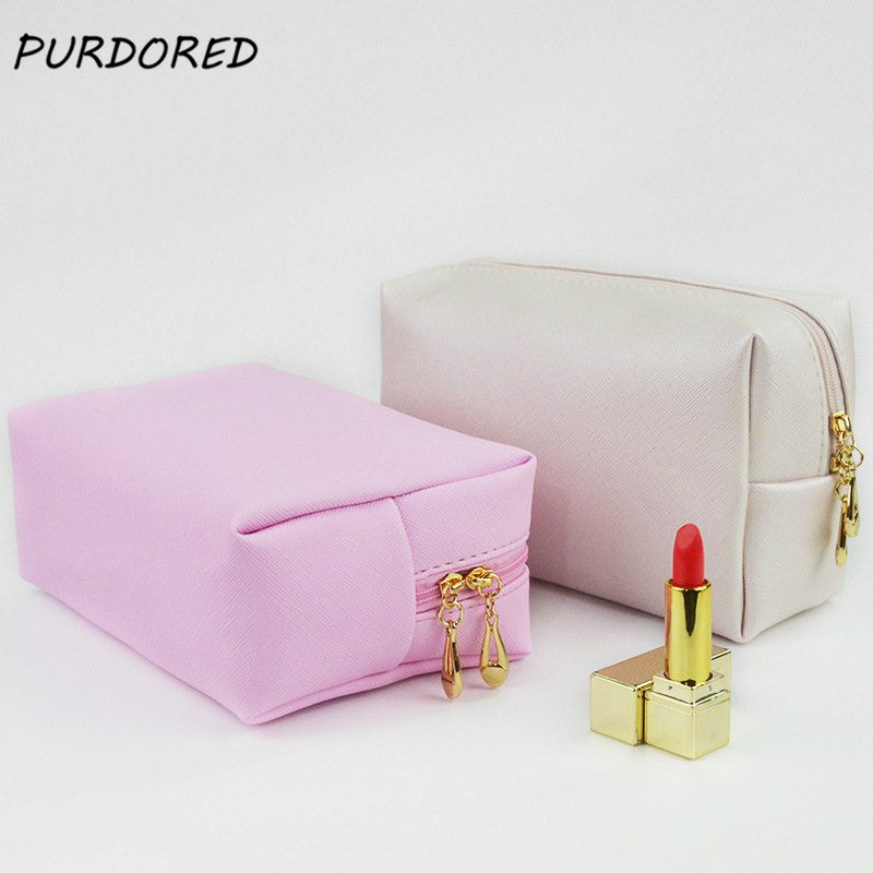 PURDORED 1 Pc Solid Makeup Bag Travel Women Cosmetic Bag Toiletry Bag Beauty Case Maquiagem Neceser Kosmetyczka Dropshipping