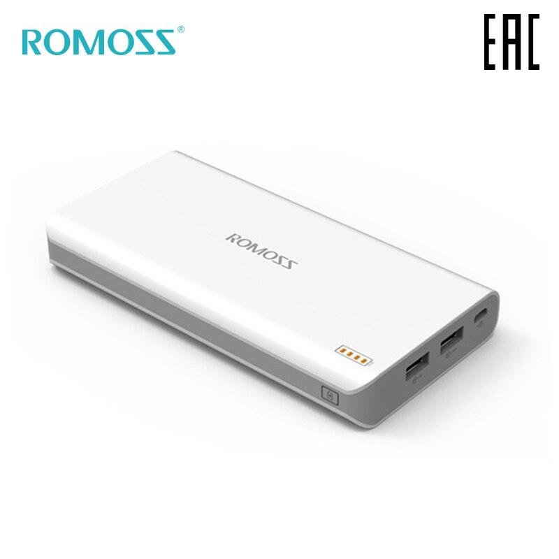 Bateria móvel portátil do banco de 20 20000 mah dos polímeros de romoss da bateria externa