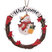 Christmas Decoration Doll Wreath Wooden Christmas Tree Garland Pendant Christmas Hanging Decoration
