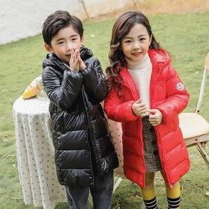 Image 3 - SLAIXIU Winter Jacke für Mädchen Mit Kapuze Dicke Kinder Jacken kinder Zipper Winddicht Verlängern Jungen Graben Mantel