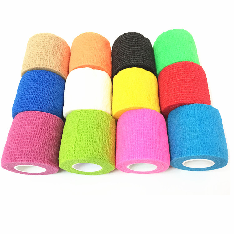 Hot Sale 5CM*450CM  Colored Non-woven Self Adhesive Cohesive Bandage Medical Elastic Bandage Bandaid