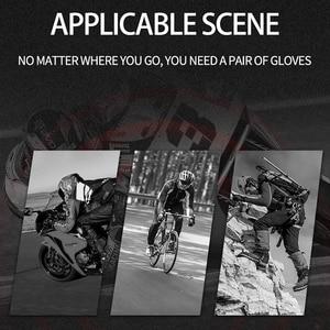 Image 5 - Ijzer Jias Retro Geperforeerd Lederen Motorhandschoenen Zomer Beschermende Half Vinger Ademend Racing Handschoenen Motor Guantes