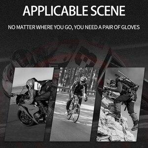 Image 5 - الحديد JIAS الرجعية مثقب قفازات جلدية للدراجات النارية الصيف واقية نصف الاصبع تنفس قفازات السباق دراجة نارية Guantes