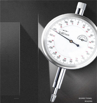 Precision 0.01mm Dial Indicator Table Two-Way Reading Seismic Dial Indicator Dial Gauge Indicator Meter Gauge Tool Dial