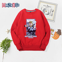 Children Hoodies Sweatshirts Boys Clothing Girl Kids Cartoon Thor Printed Pullover Tops Boy Casual Autumn Clothes For 2-13 Years