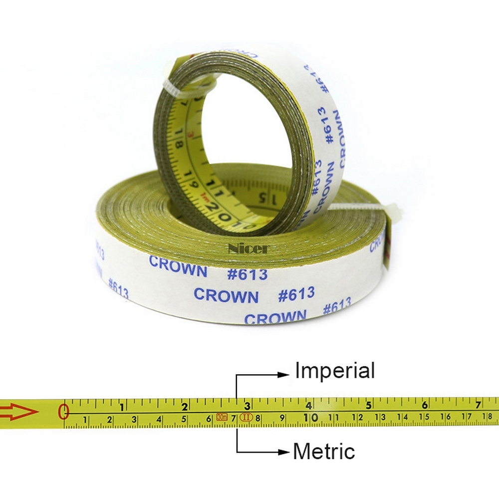 Self Adhesive Inch Metric Ruler Miter Track Tape Measure Steel Miter Saw Scale For T-track Router Band Saw Woodworking Tool