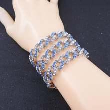 Женские кубинские браслеты цепочки miami смешанный синий красный