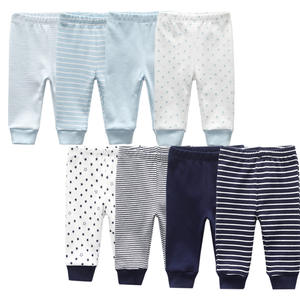 Pants Trousers Baby Leggings Newborn-Baby Infant Cotton Striped Unisex 3-12M Solid Summer
