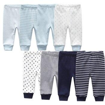 3/4PCS/LOT baby leggings Solid striped 3-12M Newborn Baby Pants Summer Cotton Infant boys Pants Unisex Baby Gril Trousers 1