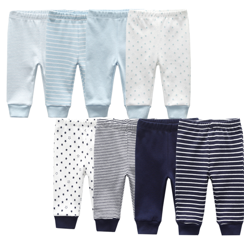 3/4PCS/LOT baby leggings Solid striped 3 12M Newborn Baby Pants Summer Cotton Infant boys Pants Unisex Baby Gril Trousers